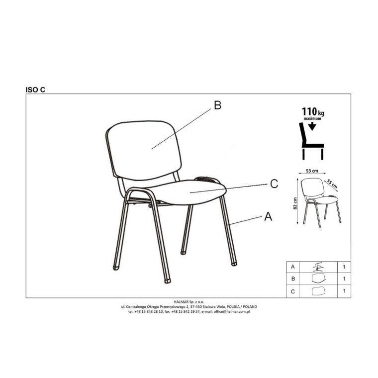 Кресло офисное Halmar Iso | Темно-серый - 2