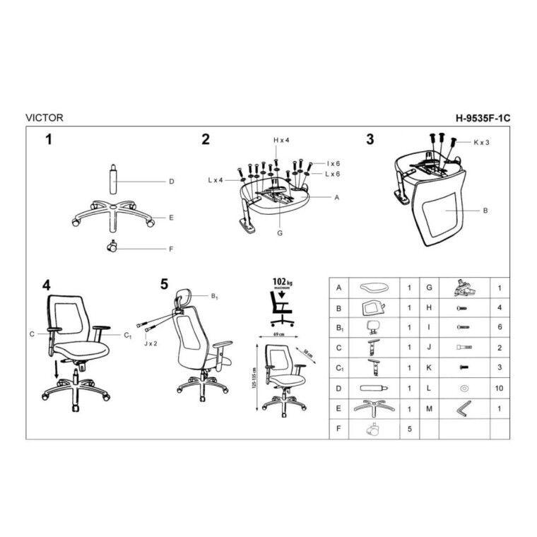 Кресло поворотное Halmar Victor | Черный - 4