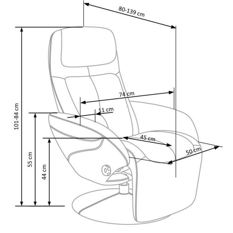Кресло раскладное Halmar Optima | Серый - 2