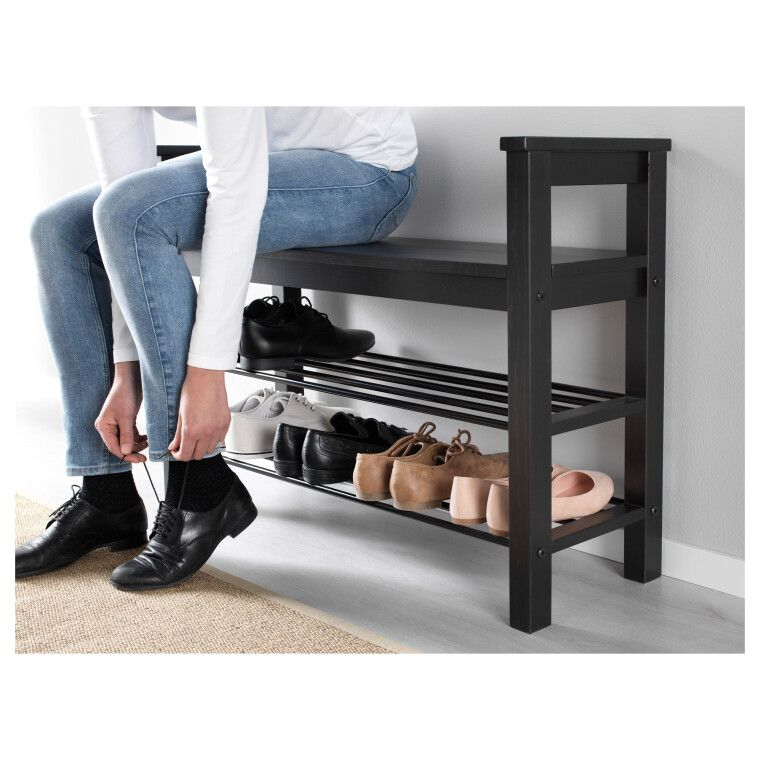 Скамья с полками для обуви HEMNES - 7