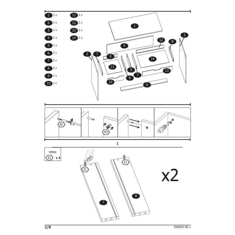 Стол письменный Halmar Eskimo B-1 | Белый - 3
