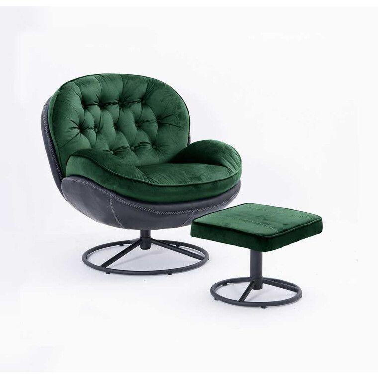Кресло Atreve Lima   Зеленый / Черный