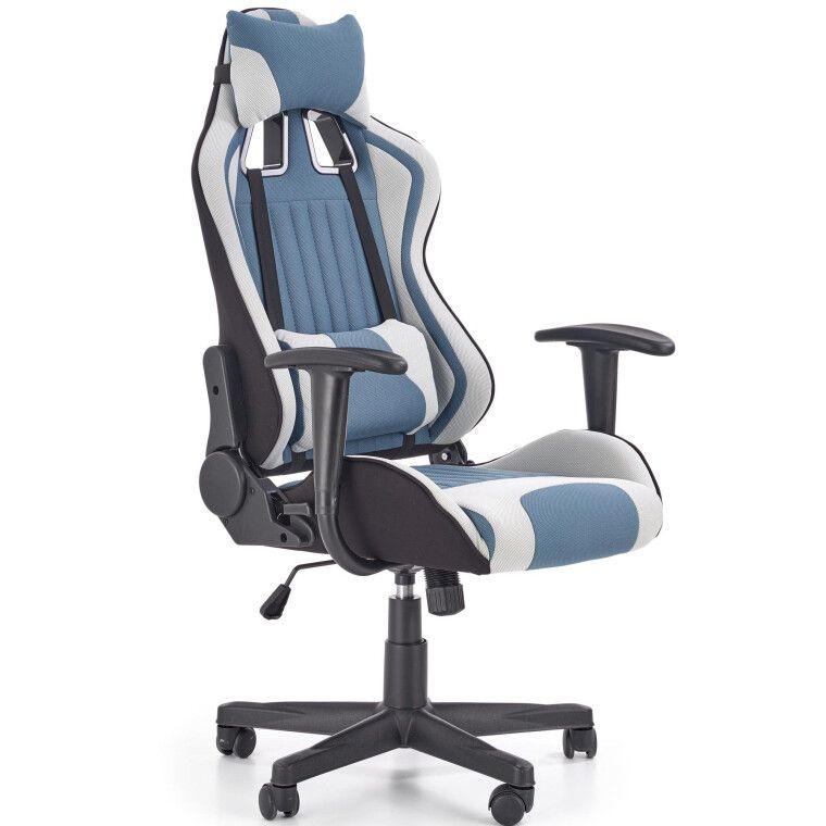 Кресло поворотное Halmar Cayman | Серый / Бирюзовый