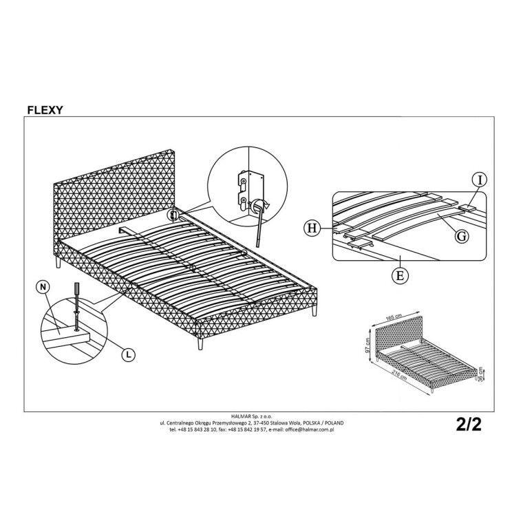 Кровать Halmar Flexy | 160х200 / Серый - 3