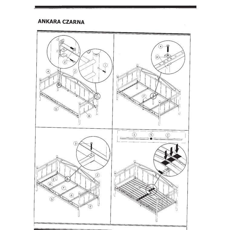Кровать Signal Ankara   90х200 / Белый - 3