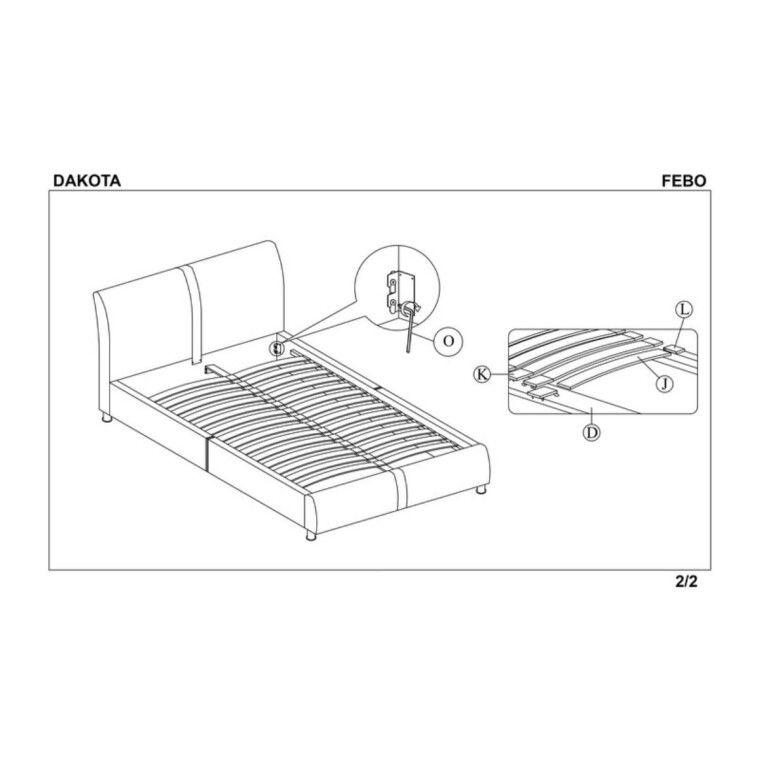 Кровать Halmar Dakota | 160х200 / Черный - 3
