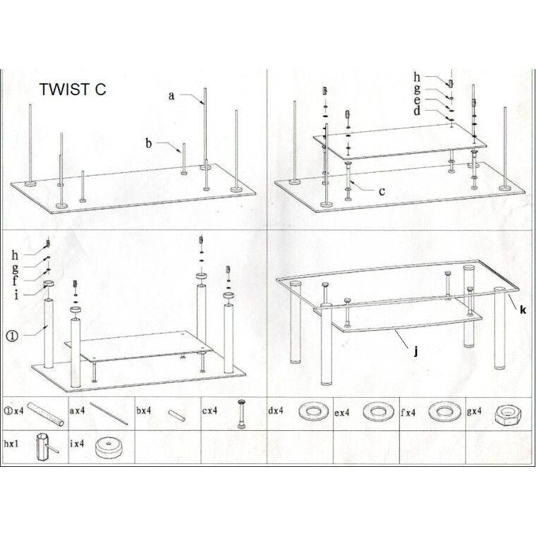 Столик журнальный Signal Twist C | Черный - 2