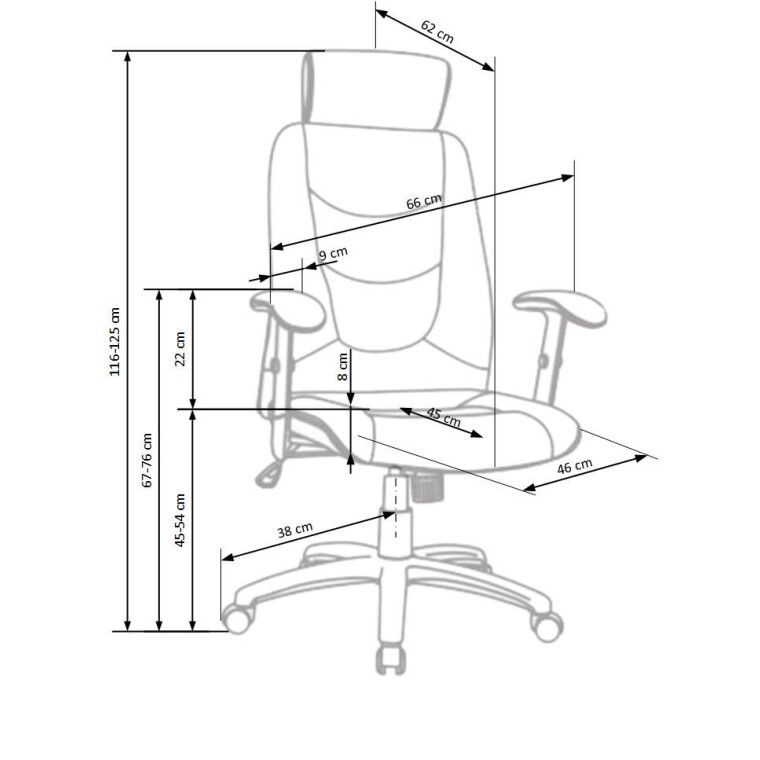 Кресло поворотное Halmar Stilo   Серый - 2