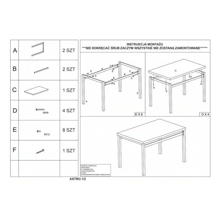 Набор мебели столовой Signal Astro | Дуб сонома - 2