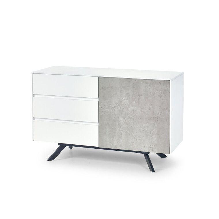 Комод Halmar Stonno КМ1 | Белый / бетон