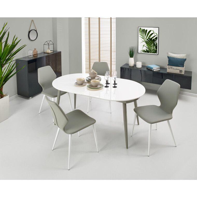 Стол раскладной Halmar Crispin | Белый / серый