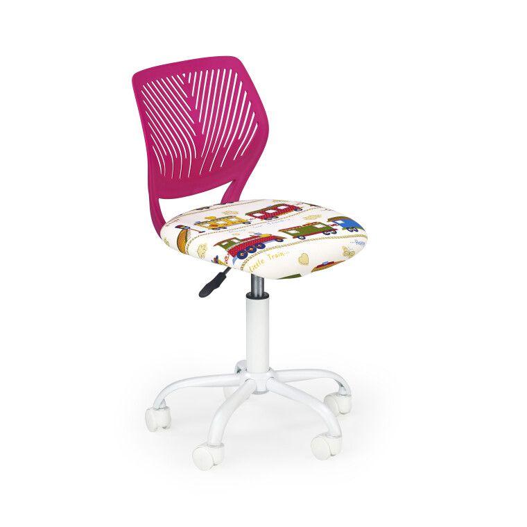 Кресло поворотное Halmar Bali   Розовый