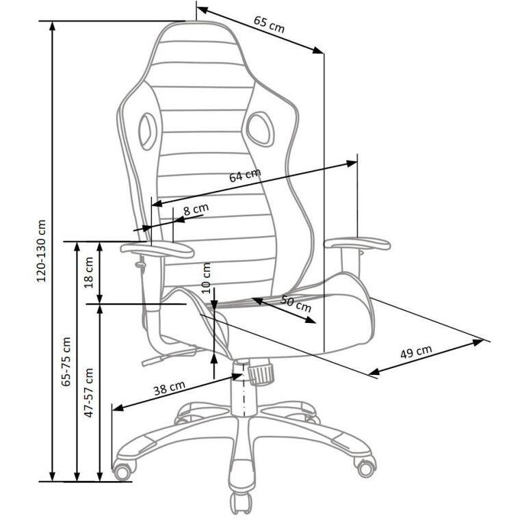 Кресло поворотное Halmar Ranger  | Серый - 3