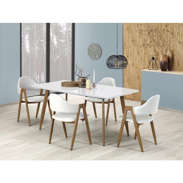 Стол раскладной Halmar Ruten | Дуб медовый / Белый