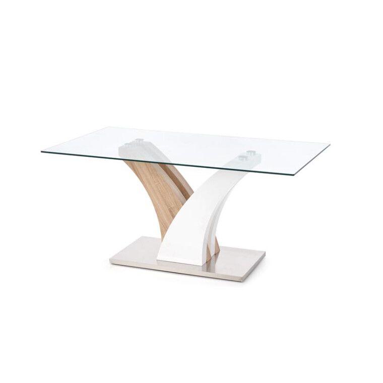 Стол обеденный Halmar Vilmer | Дуб сонома / белый - 10