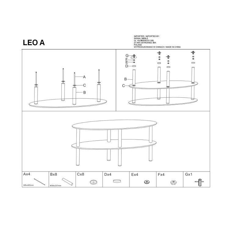 Столик журнальный Signal Leo A | Прозрачный - 3