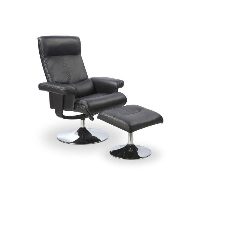 Кресло с подставкой для ног Halmar Dayton | Черный