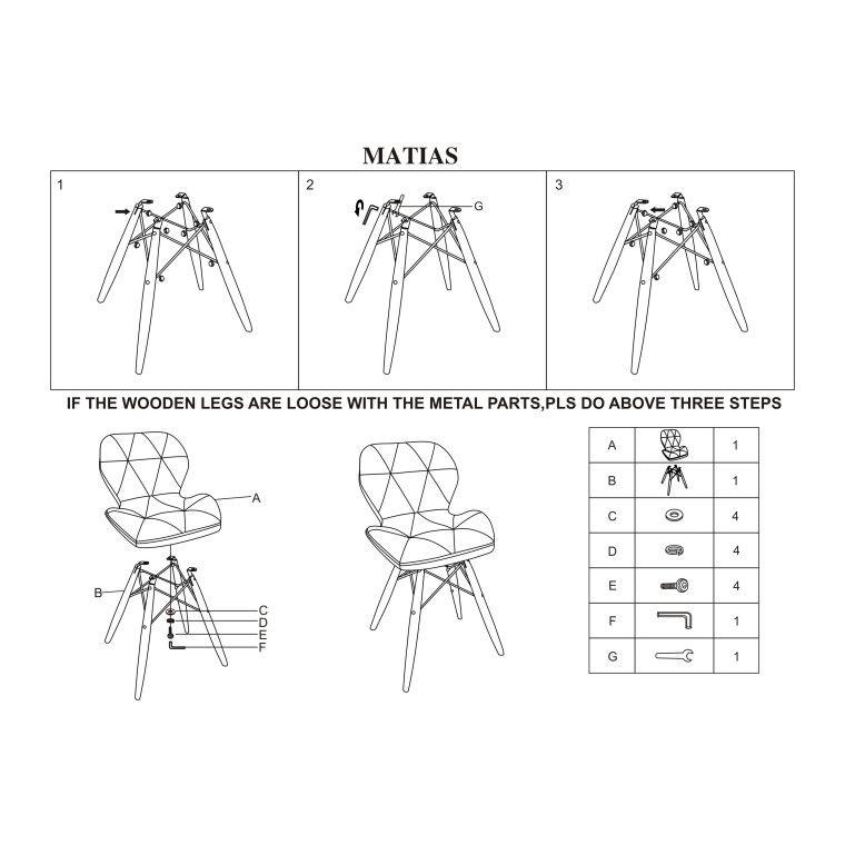 Стул Signal Matias | Желтый - 2