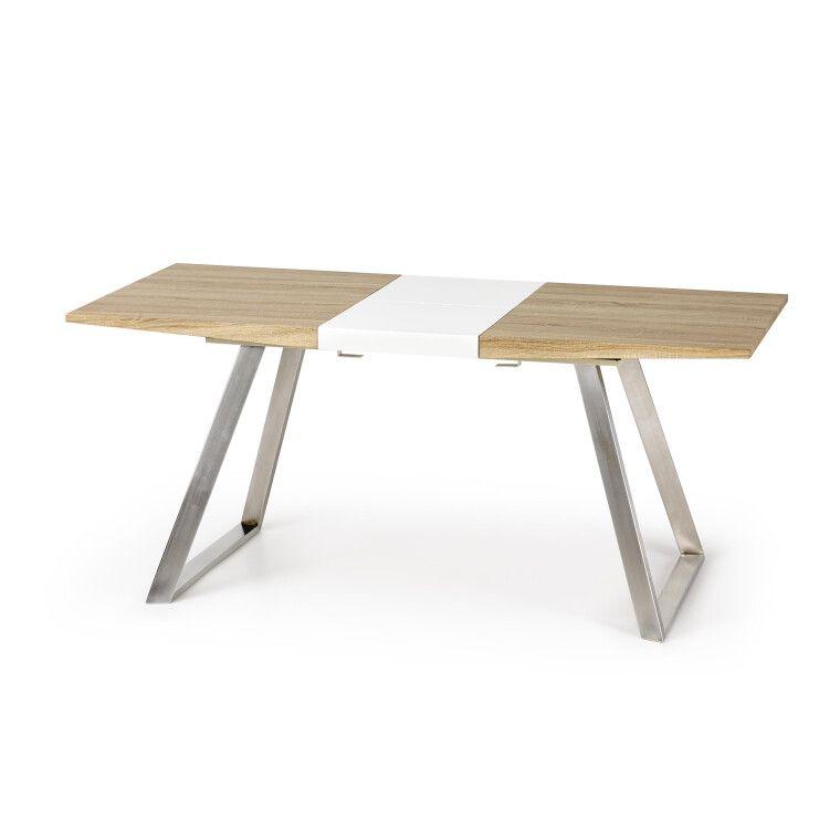 Стол обеденный Halmar Trevor | Дуб Сонома / Белый - 3