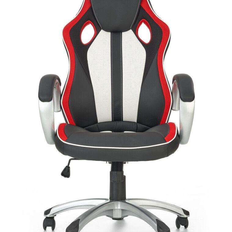 Кресло поворотное Halmar Roadster  | Черный / Красный / Белый фото - 8