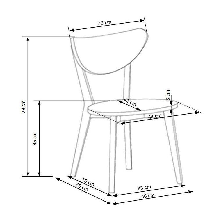 Стул кухонный Halmar Polo | Серый - 3