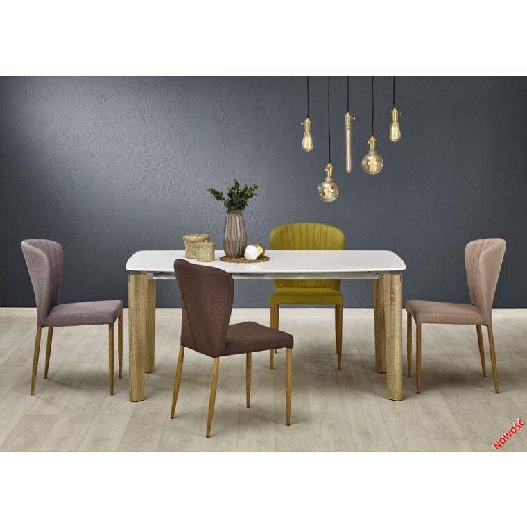 Стол обеденный Halmar Weber | Белый / дуб сонома