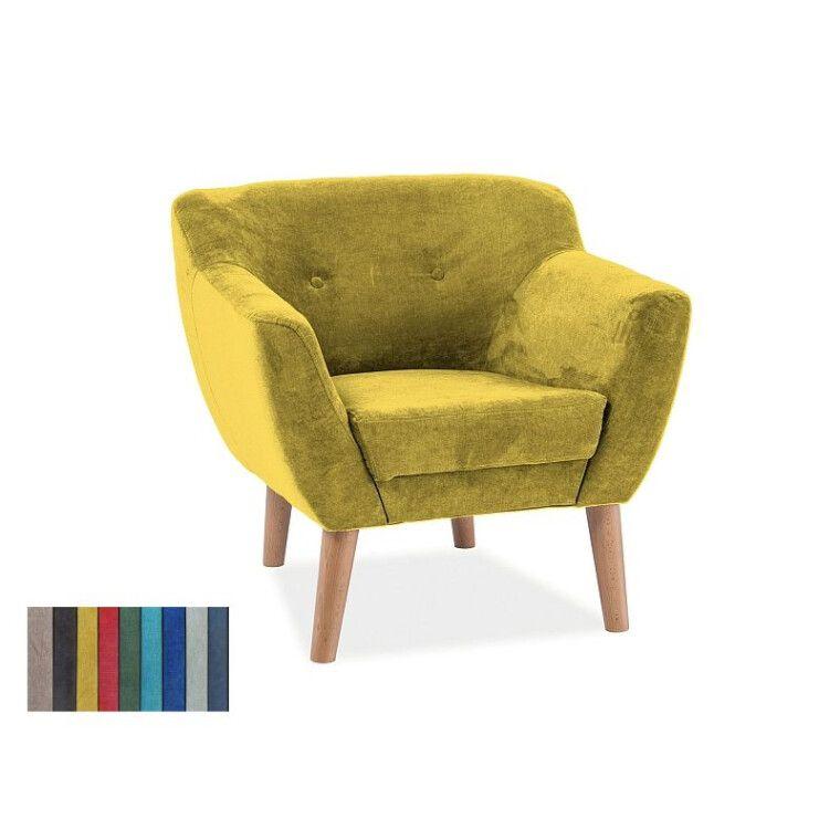 Мягкое кресло Signal Bergen 1  | Желтый (Tap. 1609) фото
