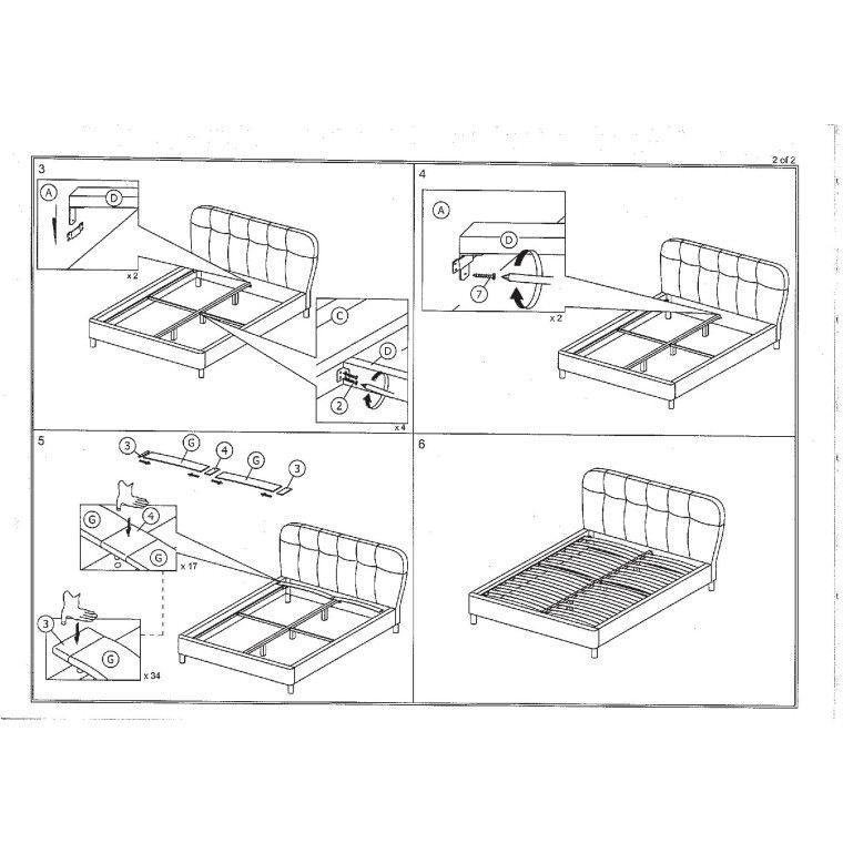 Кровать Signal Bella | 160х200 / Серый / Дуб - 3
