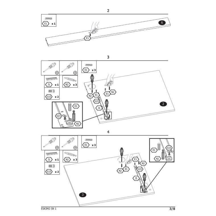 Стол письменный Halmar Eskimo B-1 | Белый - 4