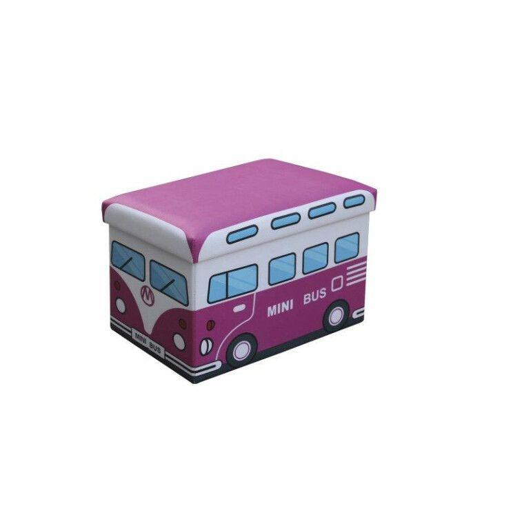 Пуф Halmar Kiri   Розовый Автобус