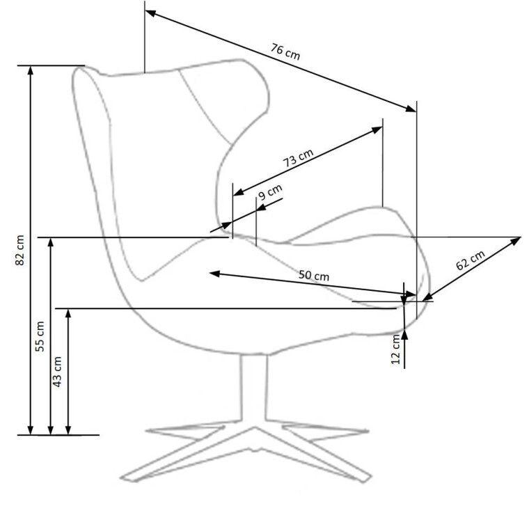 Кресло Halmar Blazer | Бирюзовый - 2
