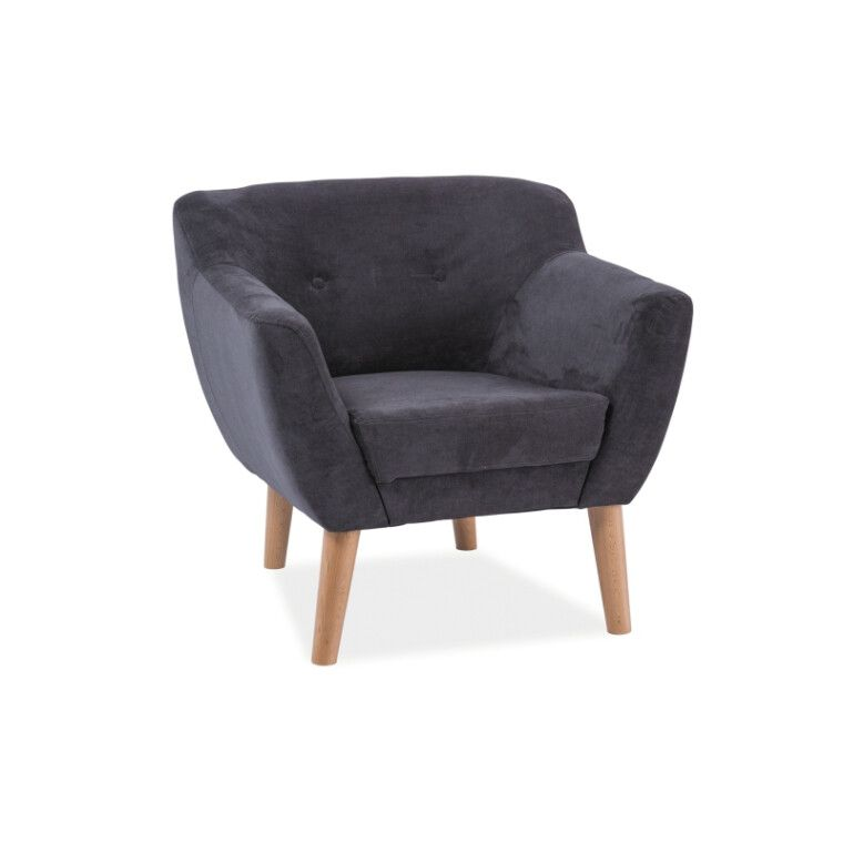 Мягкое кресло Signal Bergen 1 | Темно-серый (Tap. 1618) фото