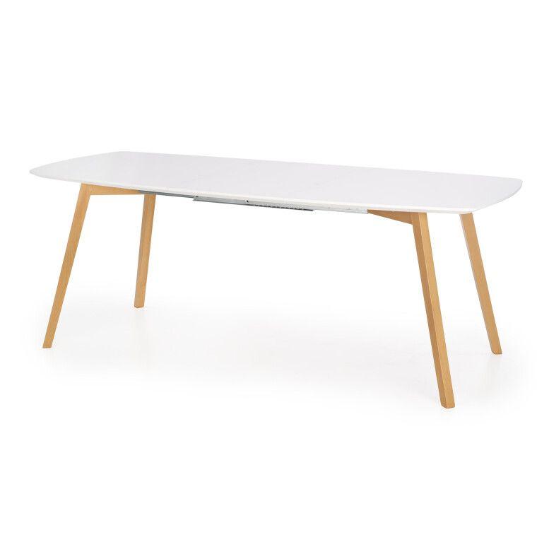 Стол раскладной Halmar Kajetan   82х135 / Белый / Дуб медовый фото - 3