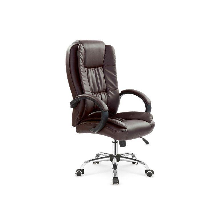 Кресло поворотное Halmar Relax | Коричневый фото