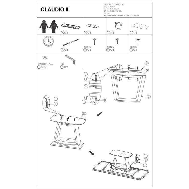 Стол обеденный Signal Claudio II | Белый - 3