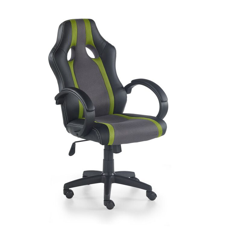 Кресло поворотное Halmar Radix | Серый / Зеленый - 2