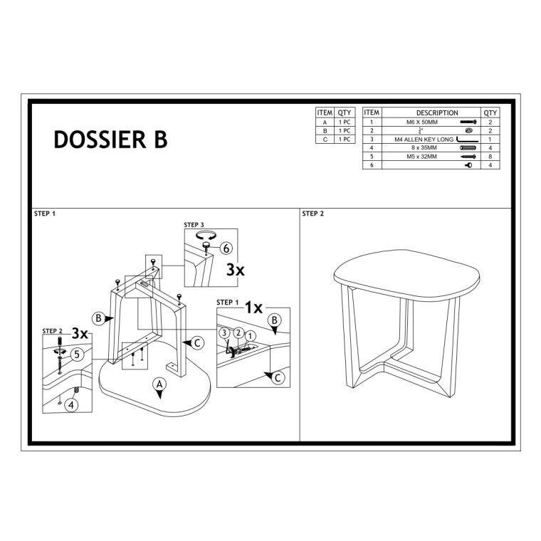 Журнальный столик Signal Dossier B | Дуб / графит - 2