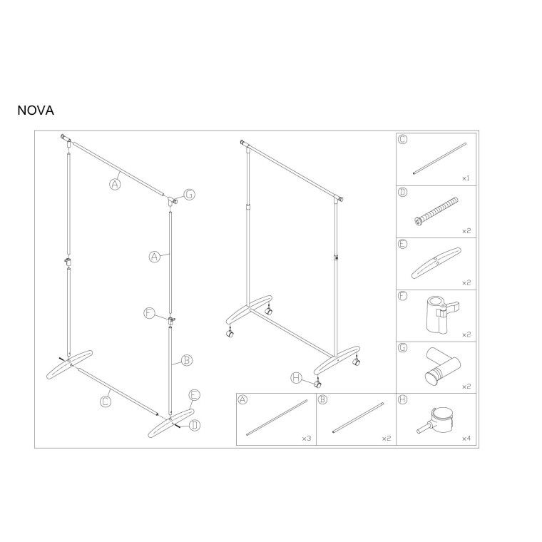 Вешалка Signal Nova   Черный - 2