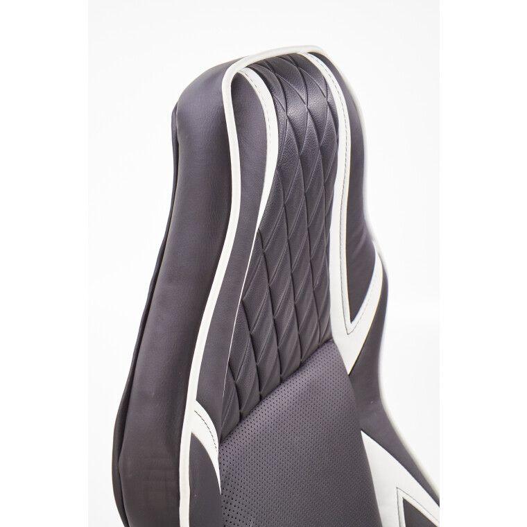 Кресло поворотное Halmar Dodger | Черный / белый - 10