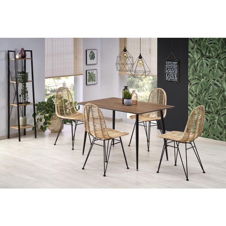 Стол обеденный Halmar Artti | Орех медовый / Черный - 2