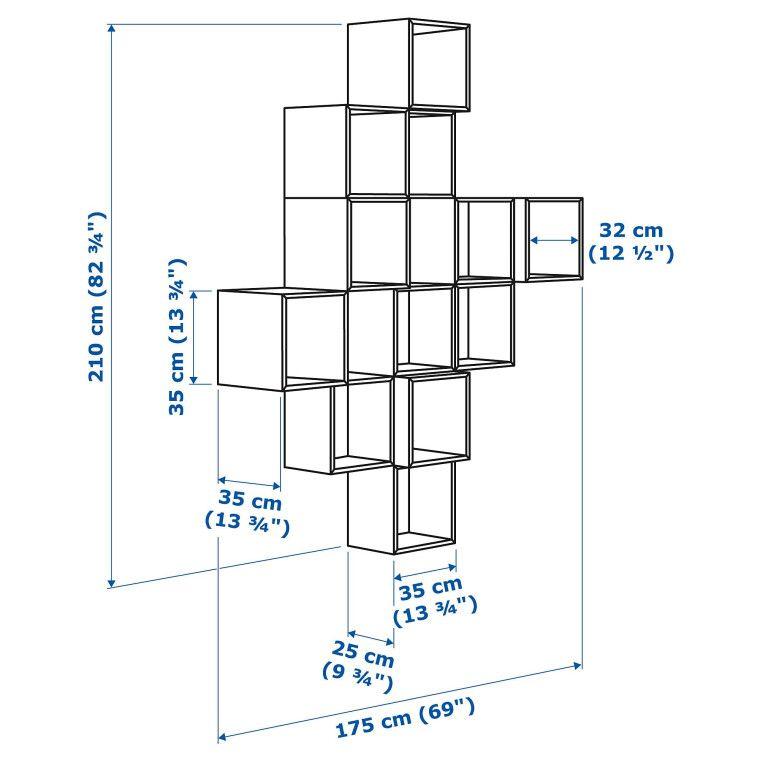 Комбинация навесных шкафов EKET - 3
