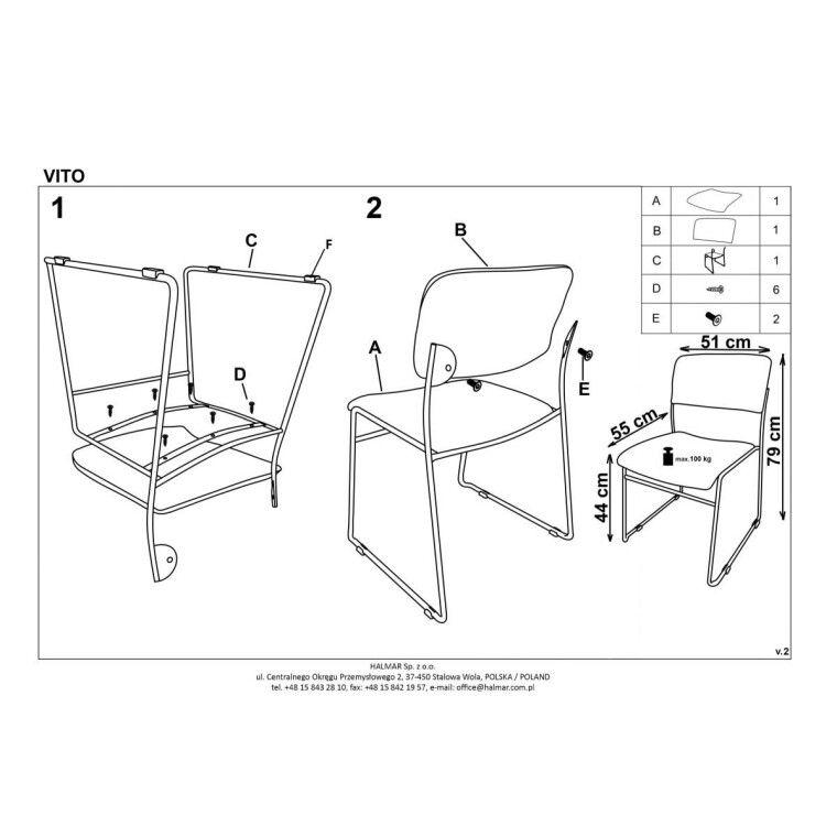 Кресло офисное Halmar Vito | Синий - 3