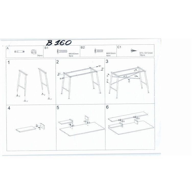 Стол компьютерный Signal  B-160 | Дуб / белый - 4