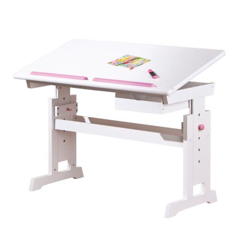 Стол детский Halmar Baru | Белый / розовый / синий - 2