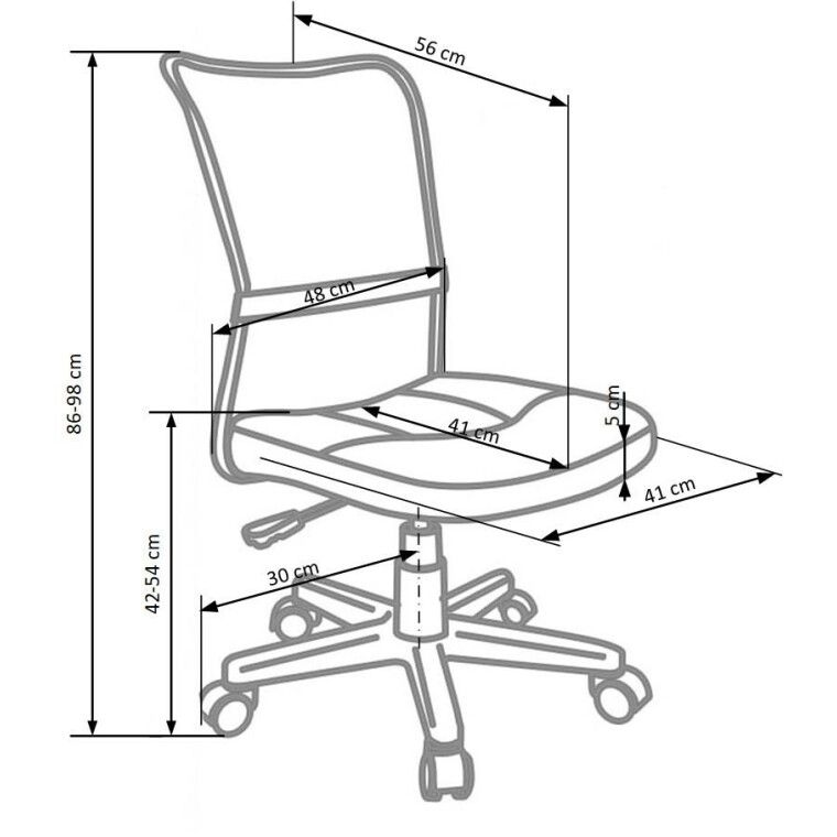 Кресло поворотное Halmar Dingo | Фиолетовый - 3