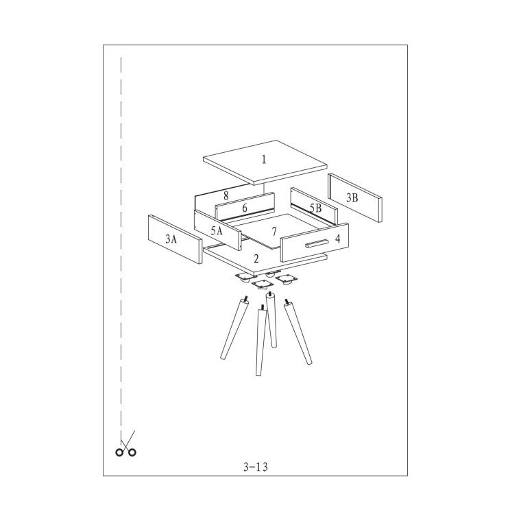 Столик Signal Milan S3 | Белый / дуб - 3