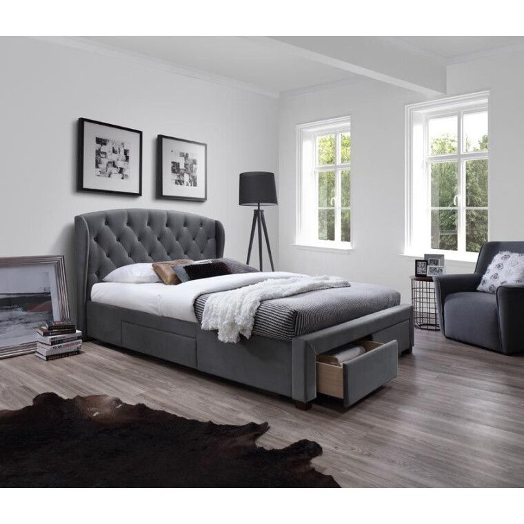 Кровать Halmar Sabrina | 160х200 / Серый
