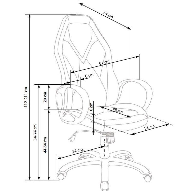 Кресло поворотное Halmar Coyot | Черный / Синий - 2