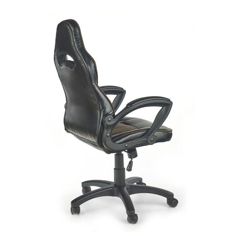 Кресло поворотное Halmar Lizard | Черный / коричневый - 4