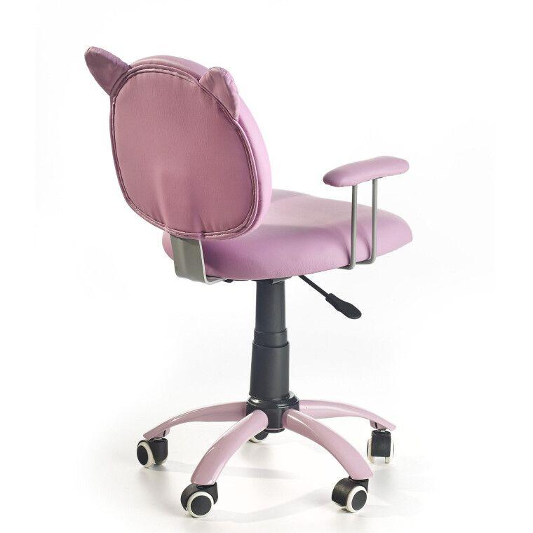Кресло поворотное Halmar Kitty   Розовый - 2